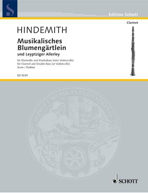 CoöPeratieve Musikalisches Blumengärtlein Und Leyptziger Allerley Hindemith Performance Sco